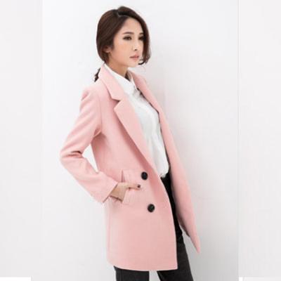 反季清仓2018春装促销韩版女装修身显瘦学院风毛呢外套女大衣春秋