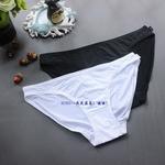 三 欧美ESP黑白基础色简约冰丝莱卡柔软低腰女窄边三角裤包臀内裤