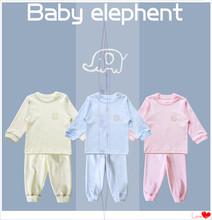 2014新款儿童纯棉棉毛内衣套装秋衣秋裤套装小象系列粉色米色蓝色