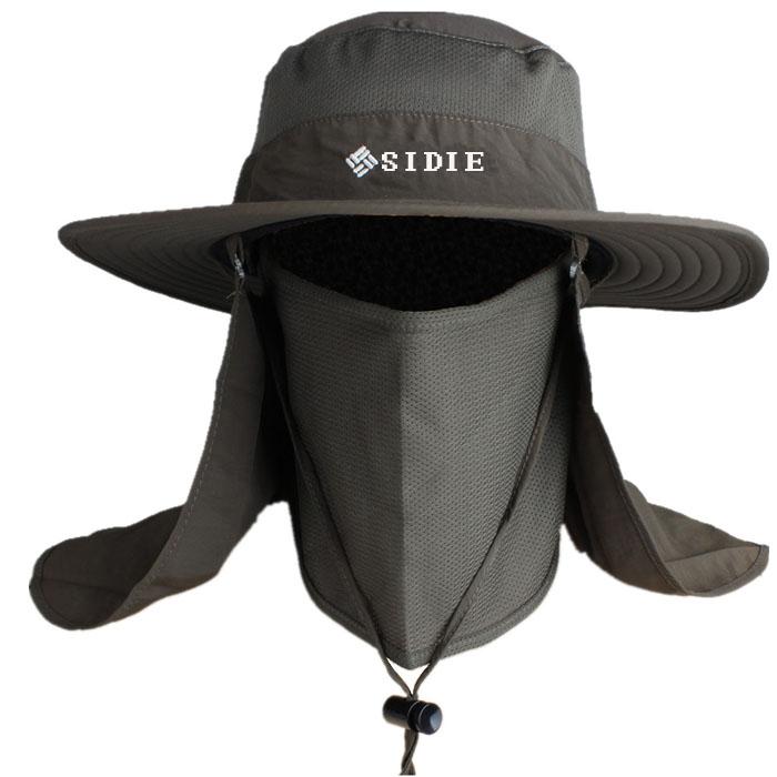 帽子男士夏天户外防晒帽渔夫帽登山帽钓鱼帽子夏季遮阳帽男太阳帽5元优惠券