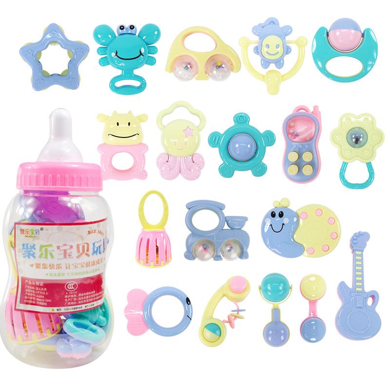 新生儿童婴幼摇铃套装0-1岁男孩女宝宝玩具2三3四4-5-6个9月8