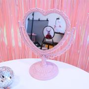 Princess soft sister girl heart pink love lace desktop double mirror mirror heart shape rotating makeup mirror