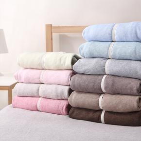 无印床笠单件纯棉全棉良品床单天竺棉针织棉纯色1.5m1.8席梦思套