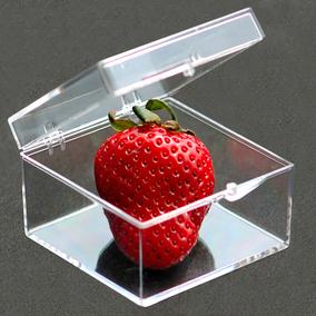 透明PC塑料盒子收纳盒正方形标本展示收藏盒整理盒加厚有盖中小号