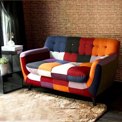 日式北欧创意色彩沙发布艺设计师个性沙发小户型时尚组合艺术沙发