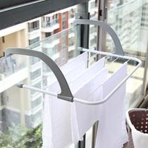 简易窗帘杆晾衣杆衣柜挂衣杆伸缩杆加厚不锈钢免打孔浴帘杆套装