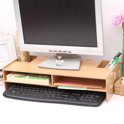 显示器增高架电脑架底座支架托架桌面键盘架桌上置物架收纳木架子