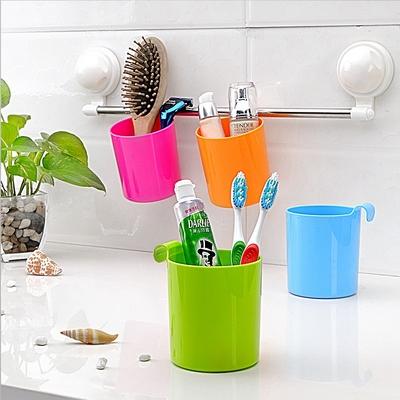 双庆家居厨房置物吸盘架子浴室塑料吸盘收纳架储物架置物架1065