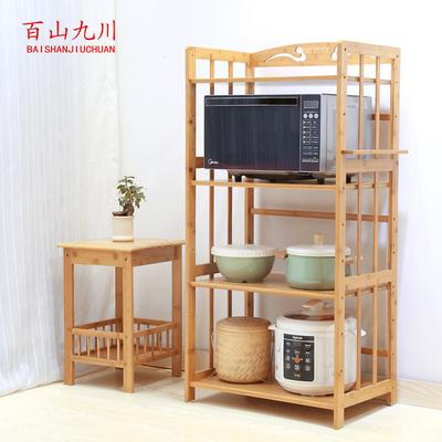 竹木微波爐架