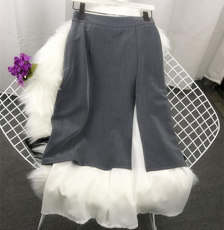 拼接 开叉 半身裙
