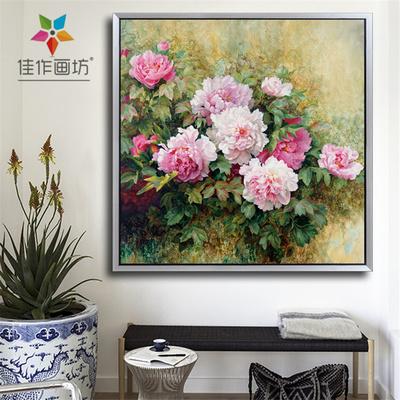 油畫牡丹畫手繪客廳官方旗艦店