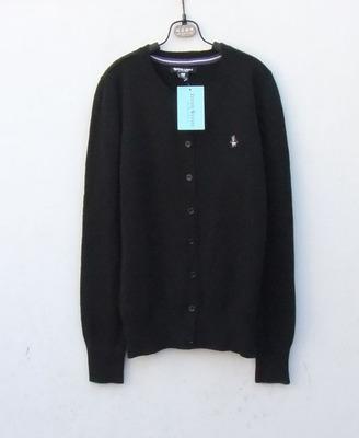 A春秋款小熊黑色藏青色纽扣开衫外套羊绒衫羊毛衣155-160-165CM正品热卖