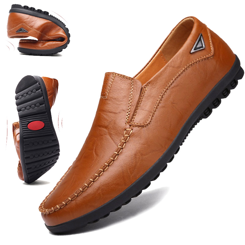 皮鞋男软底商务休闲男鞋