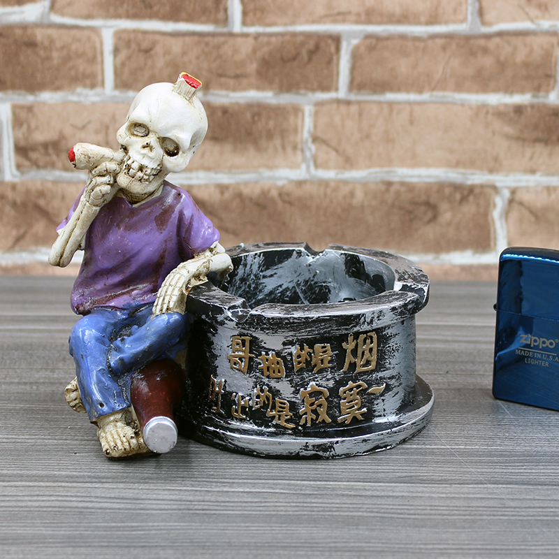 骷髅头烟灰缸