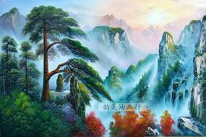 高清仿真大型家居 客厅画 现代装饰油画 中式风景壁画芯山水风景2