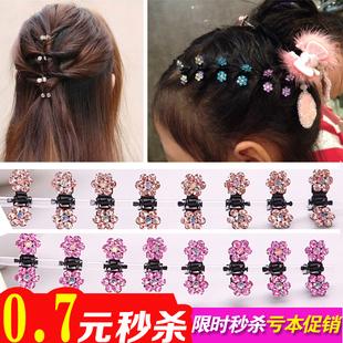 韩国小女孩梅花迷你水晶镶钻抓夹发卡子流行儿童饰品包邮女
