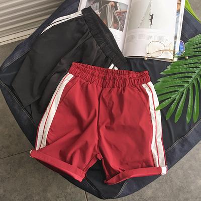 夏季林弯弯韩版宽松运动短裤五分裤休闲速干潮流学生男沙滩裤