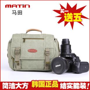 马田防水专业相机包D810摄影包单反单肩包尼康佳能帆布斜挎腰包5D