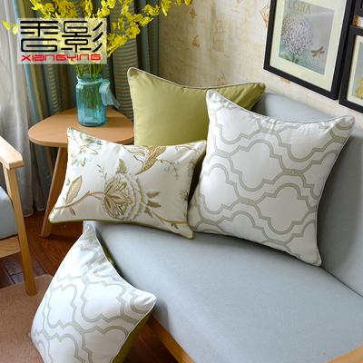 欧式韩版客厅沙发抱枕套靠垫靠枕长方形大号田园美式全棉麻不含芯