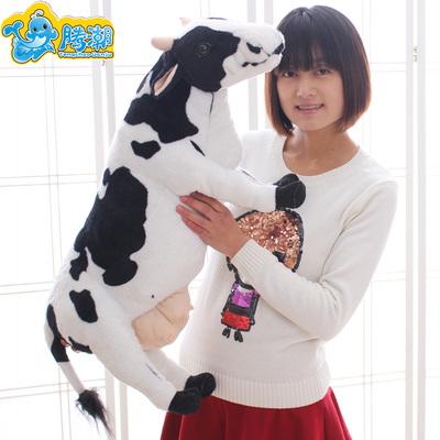 可爱卡通小牛公仔仿真奶牛毛绒玩具布娃娃生肖牛儿童玩偶生日礼物