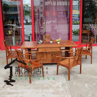 古典家具实木小叶红檀鸡翅木刺猬紫檀功夫茶台办公茶桌