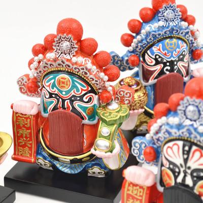 戏剧脸谱中国风 京剧五路财神 出国外事商务礼品 家居装饰小摆件