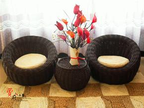 特价柳编藤编球形沙发懒人沙发椅休闲沙发双人单人茶几组合田园欧