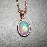 Natural Opal Pendant 925 Silver Opal Pendant Colorful Bag Inlay Pendant Colored Gemstones Rare Collection