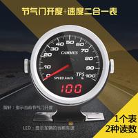 卡妙思新品汽车改装仪表OBD直插双功能气门开度+速度二合一赛车表