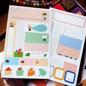 可愛彩色對話框貼紙拍立得標簽貼紙手帳裝飾貼畫DIY相冊成長手冊
