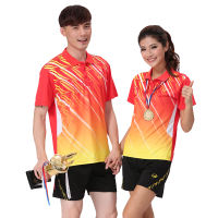 New volleyball clothing short-sleeved suit men and women training suits quick-drying breathable badminton clothing competition sportswear uniforms