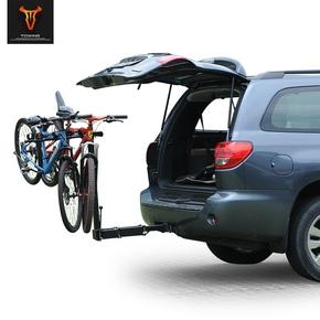 拖赢后挂式伸缩自行车架车尾架汽车悬挂架车载单车架suv改装配件