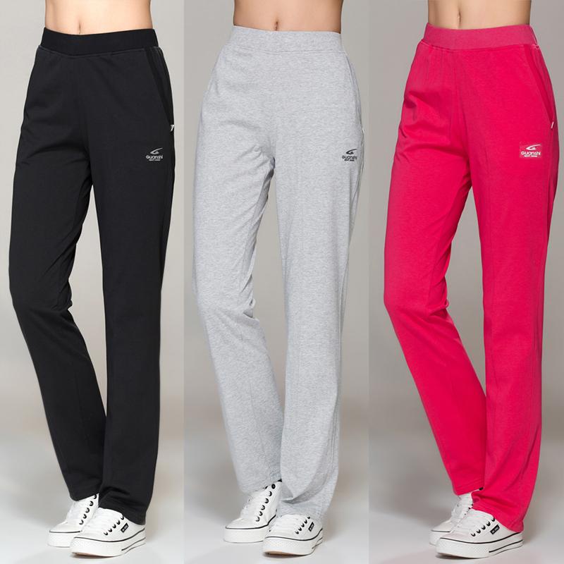 显瘦针织运动裤