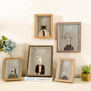 复古欧式照片墙相框墙组合客厅墙上墙壁创意挂墙装饰品心形相片墙