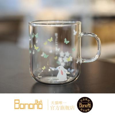 和风系列蝴蝶杯 耐热耐高温水杯创意 zakka日式早餐牛奶玻璃杯
