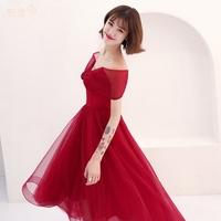 结婚礼服红色抹胸