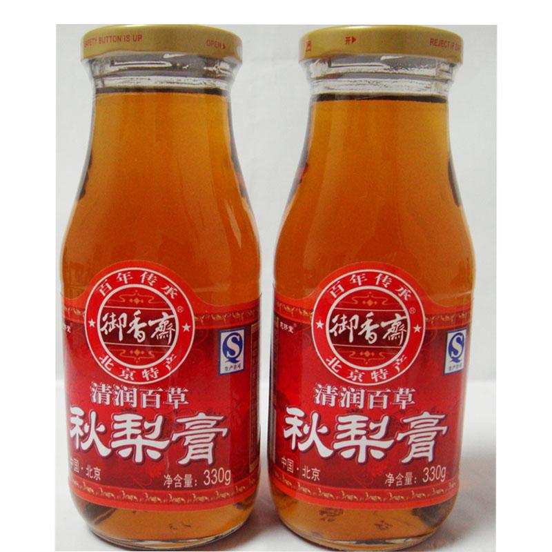 恩济堂 北京特产御香斋清润百草秋梨膏330g 三瓶包邮