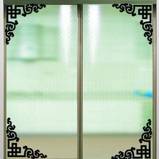 中式对角线墙贴 玻璃窗户家具对角花装饰墙贴纸 边角镜面玻璃窗花