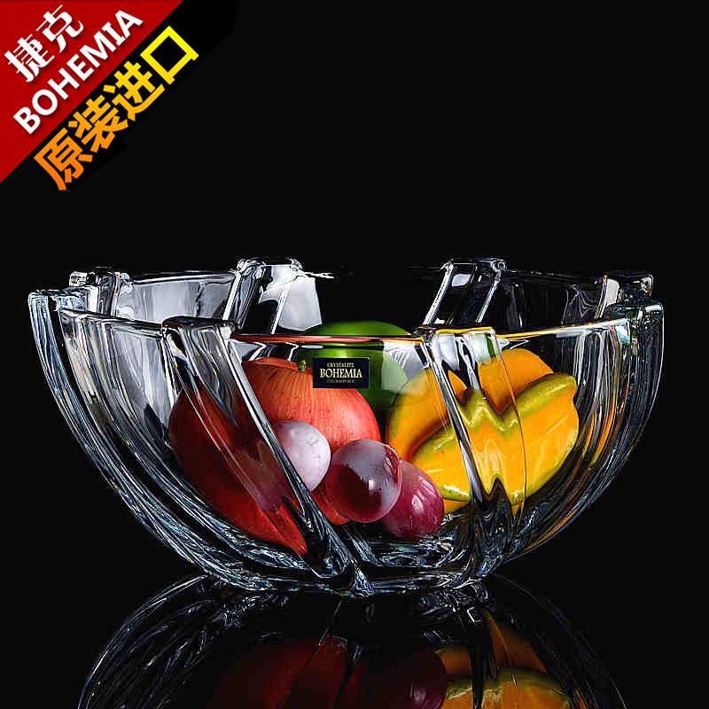 水果盘水晶玻璃捷克
