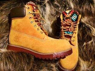 美國代購 Authentic ◇手作部落民族特別彩色圖案系帶短筒靴子