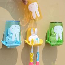 Porte-brosse à dents murale de la salle de bains couple créatif laveuse murale porte-gobelet ensemble brossage porte-gobelets