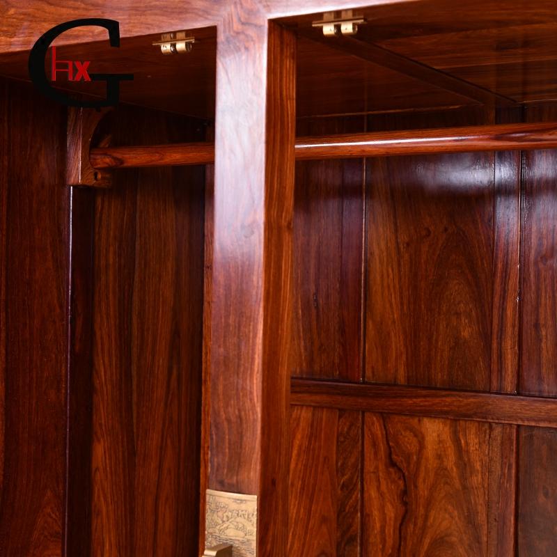 红木顶箱柜花梨木四门衣柜刺猬紫檀素面顶箱柜中式红木顶箱柜衣柜
