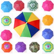 头戴遮阳伞钓鱼伞便携式栽水稻头戴雨伞太阳伞小伞下地插秧苗伞帽