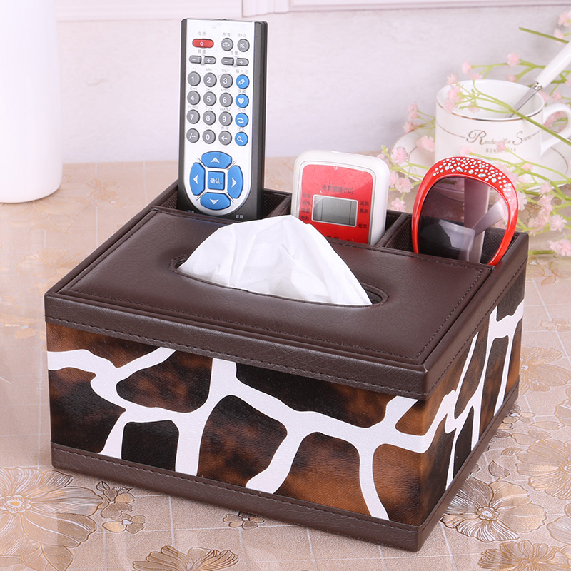 雅臣仕皮革纸巾盒欧式遥控器收纳盒餐巾纸抽盒抽纸盒时尚创意包邮5元优惠券