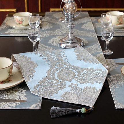 桌旗欧式现代简约中美式北欧茶几电视柜餐桌布艺床尾巾装饰布长条