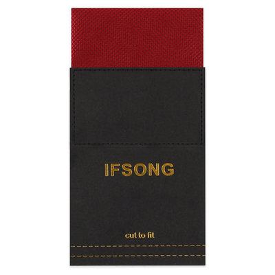 IFSONG正装商务结婚西服口袋巾男 西装方巾男 手帕男 黑白红蓝色