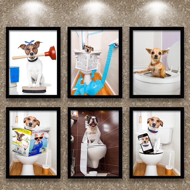 卫生间装饰画动物