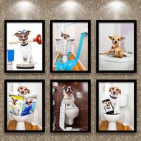 卫生间动物画