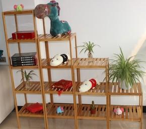特价楠竹组合家居厨房置物架实木架隔板收纳储物楠竹浴室花架