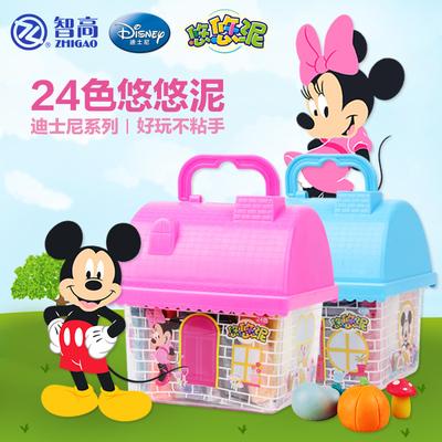 迪士尼橡皮泥12色24色3D彩泥模具套装儿童无毒粘土玩具像皮泥批发